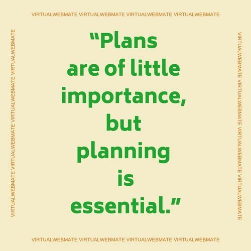 planning is essential by virtualwebmate portfolio
