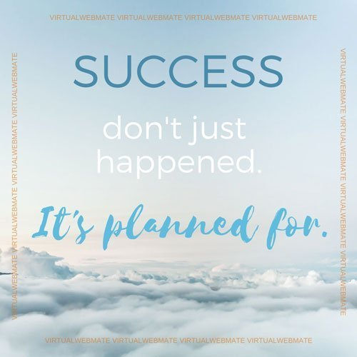 success it is planned for by virtualwebmate portfolio